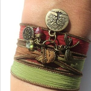 Bohemian Tree of Life Silk Wrap Bracelet